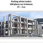Parking aérien Leclerc 450 places sur 4 niveaux - GAP