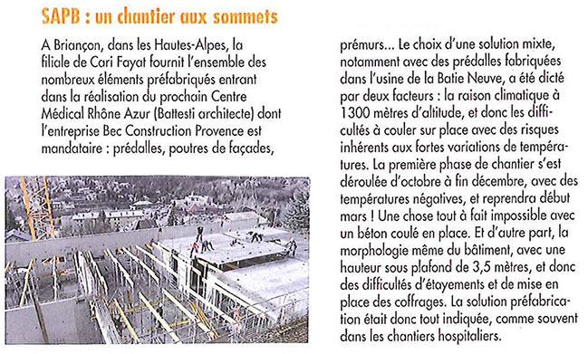 """article """"planète béton"""" de février 2015"""